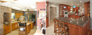 Williams kitchen - before & after, 2016